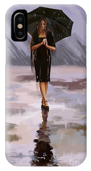 Standing-in-the-rain IPhone Case