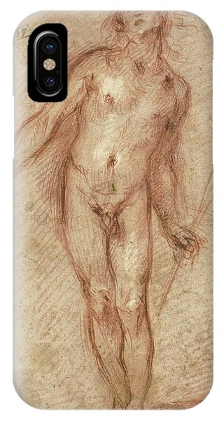 Baroque iPhone Case - Standing Male Nude by Cecco Bravo