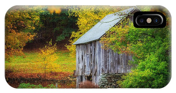 New England Barn iPhone Case - Standing The Test Of Time  by John Vose