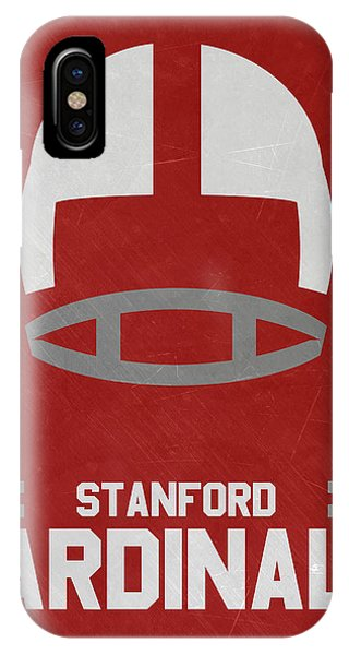 Stanford iPhone Case - Stanford Cardinals Vintage Football Art by Joe Hamilton
