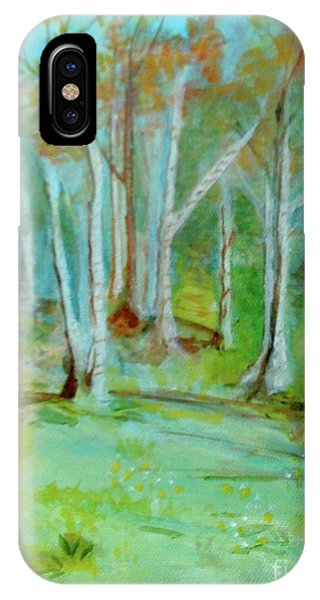 Stanwick Lakes Trees IPhone Case