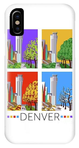 IPhone Case featuring the digital art Stapleton Four Seasons by Sam Brennan