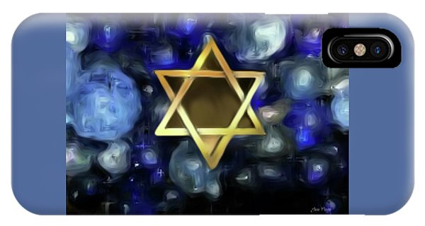 IPhone Case featuring the digital art Star Of David by Jennifer Page