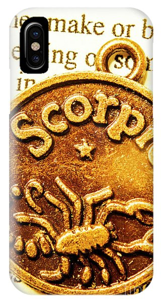 Mythology iPhone Case - Star Sign In Scorpio by Jorgo Photography - Wall Art Gallery