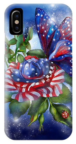 Star Spangled Butterfly IPhone Case