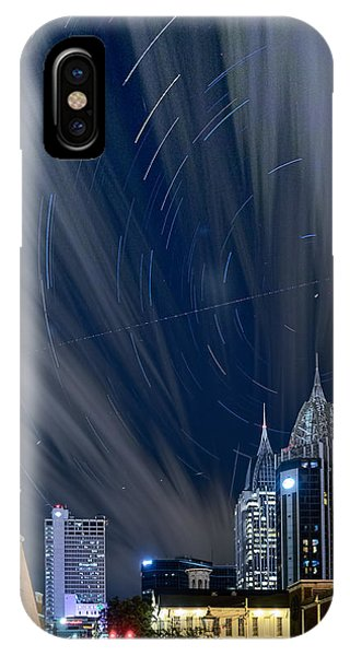 Star Trails And City Lights IPhone Case