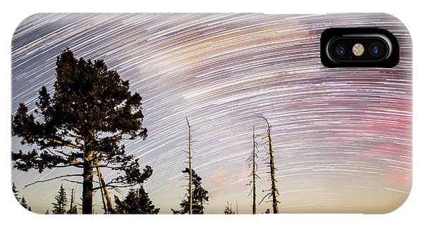 Star Trails At Fort Grant IPhone Case