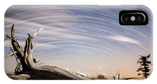 Star Trails By Fort Grant IPhone Case