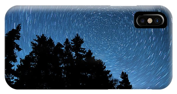 Star Trails In Acadia IPhone Case