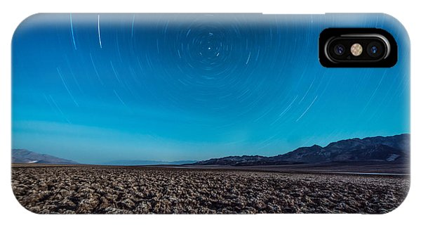 Star Trails In The Desert IPhone Case