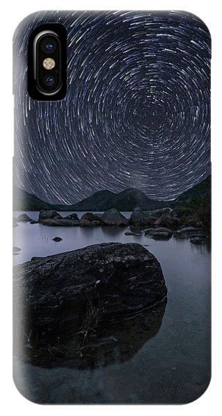Star Trails Over Jordan Pond IPhone Case