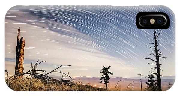 Star Trails Over Mt. Graham IPhone Case