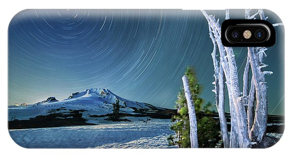 Star Trails Over Mt. Hood IPhone Case