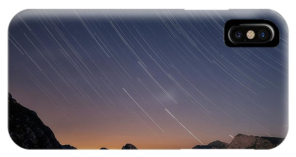 Star Trails Over The Apuan Alps IPhone Case