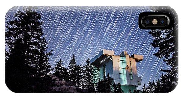 Star Trails Over The Large Binocular Telescope IPhone Case