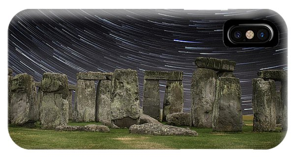 Star Trails Stonehenge IPhone Case