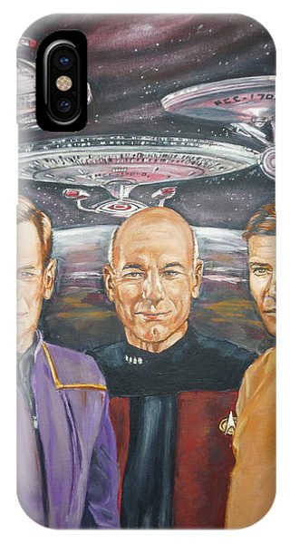 Star Trek Tribute Enterprise Captains IPhone Case