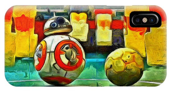 Soccer iPhone Case - Star Wars Brothers - Pa by Leonardo Digenio