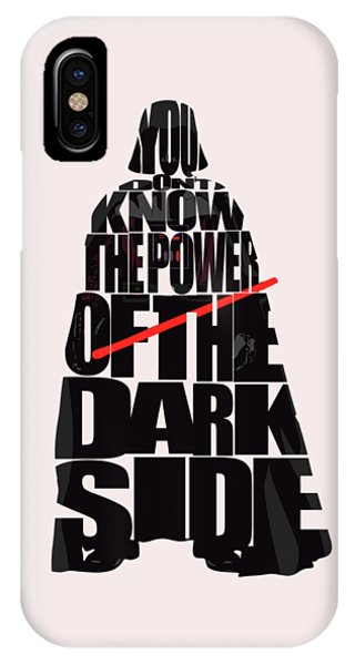 Movie iPhone Case - Star Wars Inspired Darth Vader Artwork by Inspirowl Design
