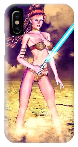 Star Wars Inspired Fantasy Pin-up Girl IPhone Case