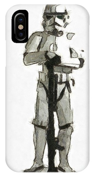 Star Wars Storm Trooper Pencil Drawing IPhone Case