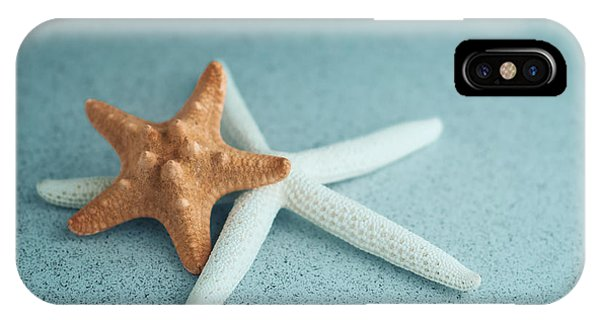 Nautical iPhone Case - Starfish On Aqua by Tom Mc Nemar