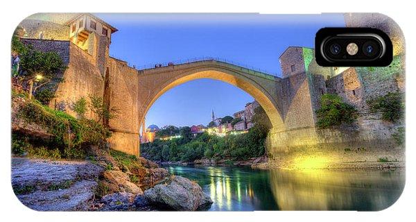 Mostar iPhone Case - Stari Most, Old Bridge, Mostar, Bosnia And Herzegovina by Elenarts - Elena Duvernay photo