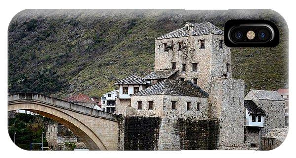 Stari Most Ottoman Bridge And Embankment Fortification Mostar Bosnia Herzegovina IPhone Case