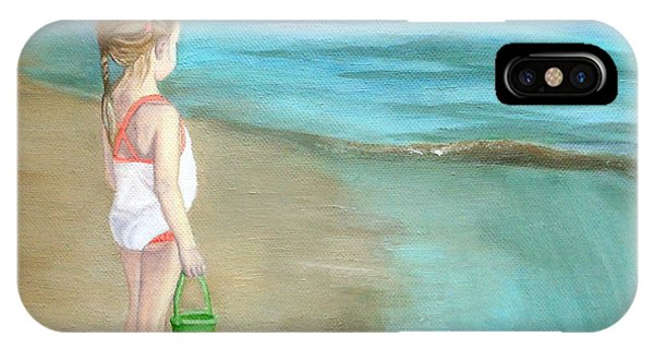 Staring At The Sea IPhone Case