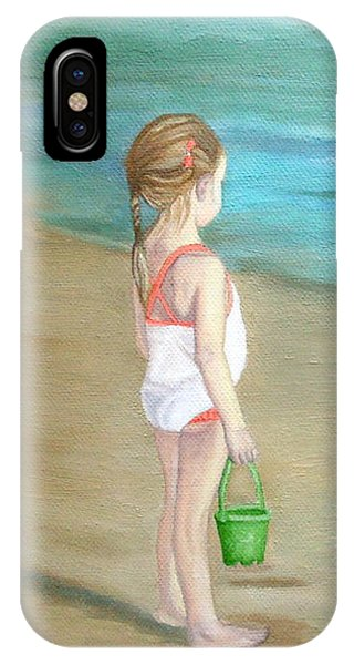 IPhone Case featuring the painting Staring At The Sea by Angeles M Pomata
