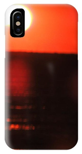 Staring Into A Star Eclipsed IPhone Case