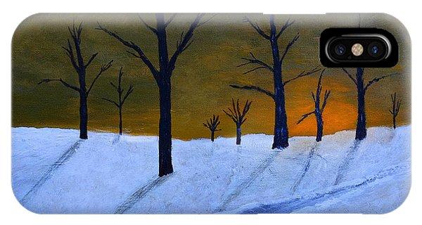 Stark Winter Sunset IPhone Case