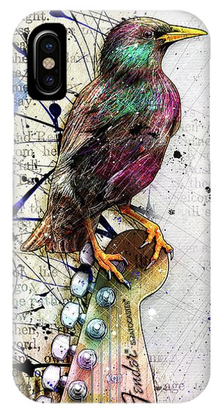 Starlings iPhone Case - Starling On A Strat by Gary Bodnar