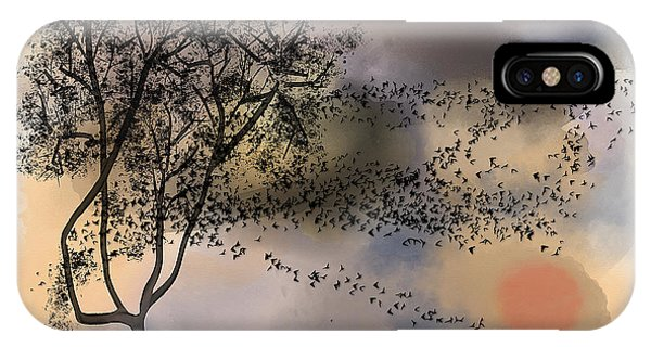 Starlings At Dusk IPhone Case