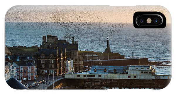 Starlings Over Aberystwyth On The West Wales Coast IPhone Case