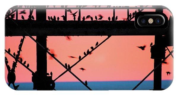 Starlings Under Aberystwyth Pier IPhone Case