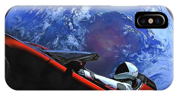 Starman In Tesla With Planet Earth IPhone Case