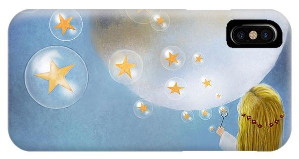 Starry Bubbles By Sannel Larson IPhone Case