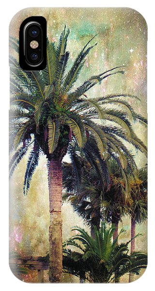 Palm Tree iPhone X Case - Starry Evening In St. Augustine by Jan Amiss Photography