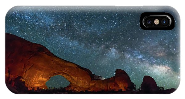 Starry Night At North Window Rock IPhone Case