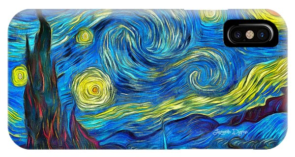 Starry Night By Vincent Van Gogh Revisited IPhone Case