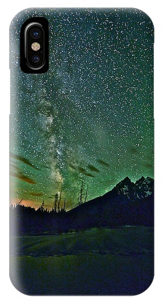 Starry Night Over The Tetons IPhone Case