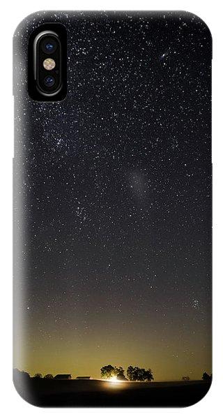Starry Sky Over Virginia Farm IPhone Case