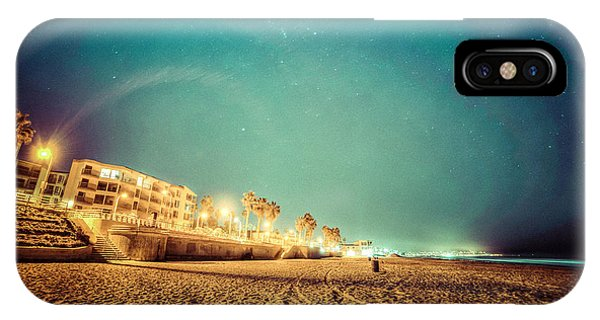 IPhone Case featuring the photograph Starry Starry Pacific Beach by T Brian Jones