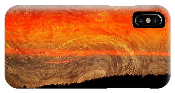 Treeline iPhone Case - Starry Sunset by Ellen Cannon