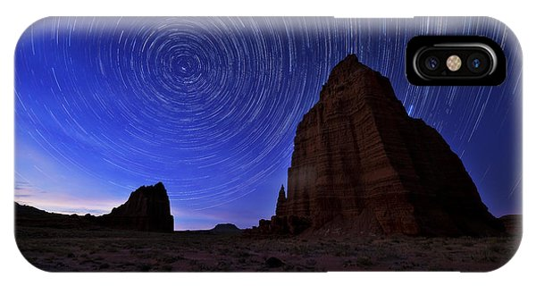 Temple iPhone Case - Stars Above The Moon by Chad Dutson