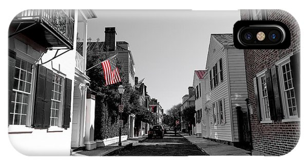 Stars And Stripes- Church St Charleston Sc IPhone Case