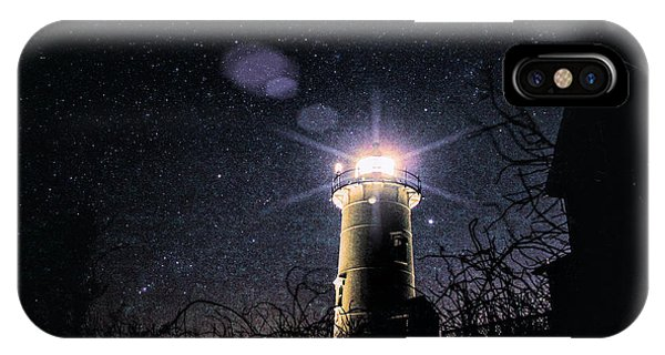 Stars Over Nobska Lighthouse IPhone Case