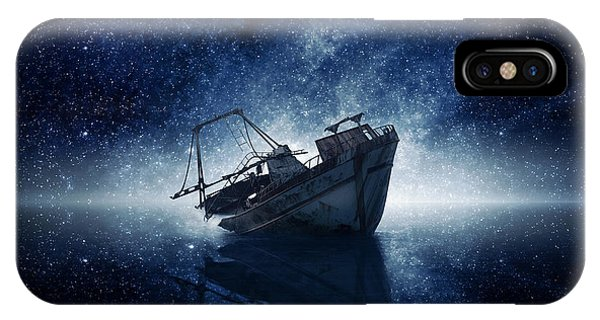 Ship iPhone Case - Stars by Zoltan Toth