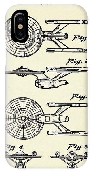 Starship Enterprise Star Trek-1981 IPhone Case